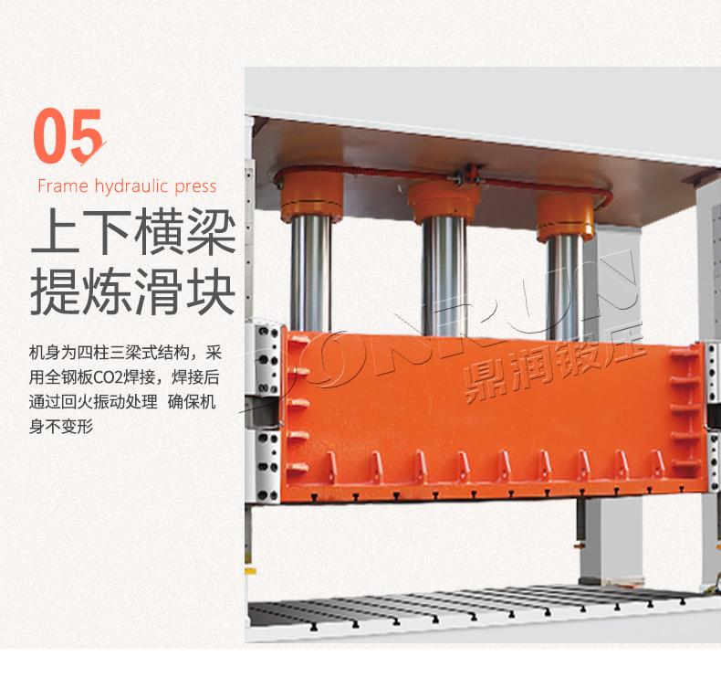 框架式液压机上下横梁提炼滑块